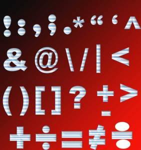 Punctuation symbols