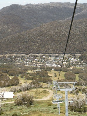 Chairlift back down to Thredbo
